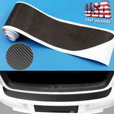 Universal 4d Carbon Fiber Car Rear Bumper Trunk Tail Lip Protect Decal Sticker Q