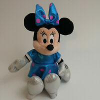 TY Sparkle Minnie Mouse Plush Beanie Doll Blue With Pink Polka Dots 2013