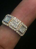 0,99 Cts Runde Prinzess Cut Natürliche Diamanten Verlobung Ring In 585 14K Gold