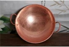 1 Pc Pure Copper Handmade Frying Pan Cookware Pot Purple Double Handle Cooking