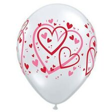 Party Supplies Wedding Birthday Large Hearts Diamond Clear Balloons Pack of 10