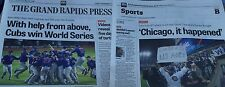 WITH HELP FROM ABOVE CHICAGO CUBS WIN WORLD SERIES Grand Rapids Press 11/4/2016