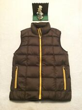 Eddie Bauer Men's Brown Goose Down Full Zip Up Puffer Vest Size Small  New