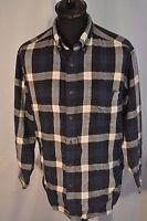 Vintage Blue flannel check western shirt in size medium grunge trucker