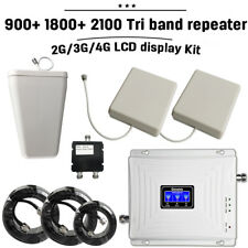 Tri Band NEW Repeater 2G/3G/4G 900+1800+2100 Mobile Phone Signal Booster Set