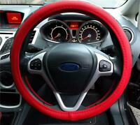 Style And Comfort Steering Wheel Cover Red/Black Soft Leather Look For Mini