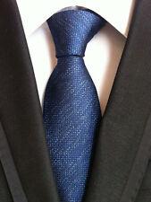 097KT hot mens 100% silk neck tie solid blue waterproof wedding party gift ties