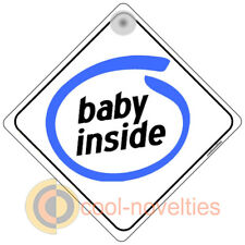 """ BABY INSIDE "" FUNNY SIGN FOR PC FANS - BABY ON BOARD"