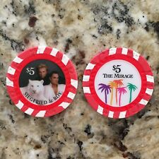 Mirage Casino Las Vegas $5 Siegfried And Roy Horn Casino Chip
