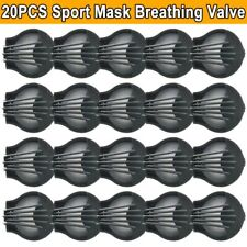 20PCS Breathing Valve Respirator Filter Replacement Parts For Cycling Face Mask