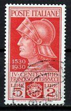 Italia - Regno 1930 4° Morte F. Ferrucci £5+2 Sassone 280 cat. € 175,00