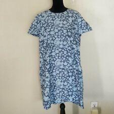 Gap Floral Summer Shirt Dress Womens size XXL 2XL Blue