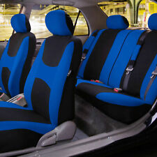 Car Seat Covers Blue Full Set for Auto w/Steering Wheel/Belt Pad/4Head Rest (Fits: Seat)