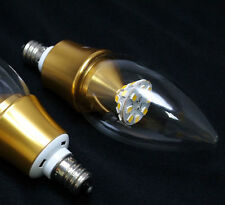 110V AC 5W Warm White LED E12 Base Candelabra Candle Light Bulbs