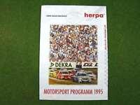 HERPA  Neuheiten-Prospekt  >> Motorsport Programm 1995 << | 4 Seiten | d 320