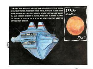 VINTAGE CLASSICS - Maldives 2419 - Mars - Souvenir Sheet - MNH