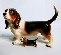 Vintage COOPERCRAFT Porcelain BASSETT HOUND Dog Figurine - Made in England