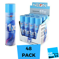 48 cans Neon 11x Filtered Butane Ultra Premium Refined Refill Lighter Cans 300mL