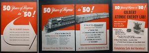 Vtg Rare 1950 DEALER Ad  AMERICAN FLYER S Gage GM GP7, Gilbert Atomic Energy Lab