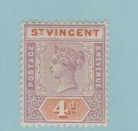 St Vincent 66 Mint Hinged OG * - No Faults Very Fine!