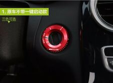 AUTO Interior ACCESSORIES Car Keyhole START Switch DECORATIVE Red Ring For Benz