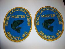 Lot 2 Embroidered Fabric Patch ROYAL CANADIAN LEGION MASTER BRANCH #6