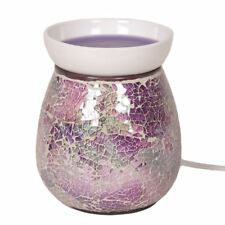 Aromatize Purple Crackle Mosaic Electric Lamp Wax Melt Tart Burner Warmer