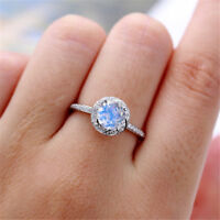 Fashion Wedding Rings for Women 925 Silver Round Cut White Sapphire Size 6-10