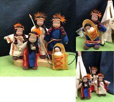 Evi  Native American Family Dollhouse Dolls waldorf school