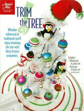 Annie's Attic Christmas TRIM THE TREE Crochet Patterns Book ~ NEW