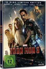 IRON MAN 3 (Robert Downey Jr.) 2 DVDs, Steelbook NEU+OVP Limited Edition