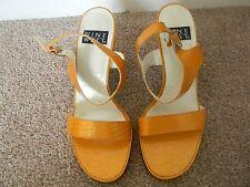 Womens Nine West High Heels Yellow Size 7 1/2