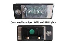 VW GOLF AUDI A3 S3 A5 S5 SEAT LEON SKODA OEM RETRO LED REAR NUMBER PLATE LIGHTS