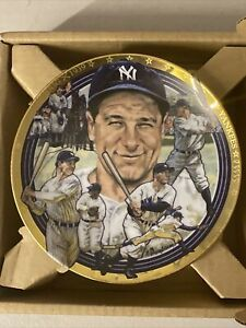 "Hamilton Collection ""The Legendary Lou Gehrig"" Lou Gehrig Plate NIB"