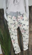 NEU ITALY BAGGY JOGPANTS HOSE SWEAT PANTS �� SHABBY ROSEN PRINT��  38-42