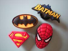 JIBBITZ CROC CLOG SHOE CHARM PLUGS 4 SPIDERMAN SUPERMAN BATMAN FIT WRISTBANDS