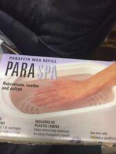 New HoMedics ParaSpa Paraffin Wax Refill & 20 Liners Par-Wax / 2 lb Pounds