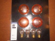 HARLEY turn signal amber lens and bulbs,4 ea. 68973-00,2ea.68168-89A & 68572-64B