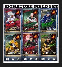6 CARD MONSTERS SIGNATURE MELD SET-HALLOWEEN-LETANG/RINNE+TOPPS SKATE 20 DIGITAL