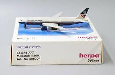 British Airways B777-236ER Herpa Scale 1:500 Diecast model 506304 LAST ONE!!