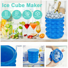 Large World Cup Ice Genie Cube Maker Revolutionary Space Saving Silicone Beer