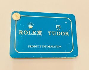 """Rolex & Tudor Product Information Dealer Card Set"" Very Rare"