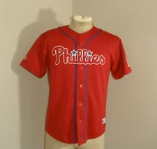 Youth Boys Majestic Philadelphia PHILLIES Chase UTLEY #26 Sewn Baseball Jersey L