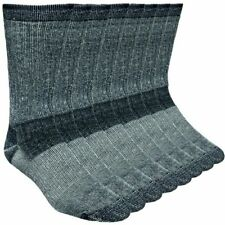 4-Pack Merino Wool Hiking Socks Made In USA 'Working Persons' Black Shoe 9-13