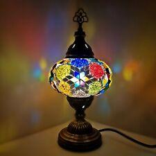 Turkish Table Lampe Authentique Coloré Clair Style Tiffany Verre Bureau