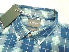 Bonobos 100% Cotton Blue Plaid Pattern Slim Fit Sport Shirt NWT XL $88