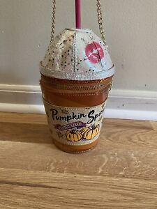 EUC Betsey Johnson Pumpkin Spice Latte Purse