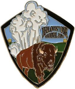 Yellowstone National Park Hiking Stick Medallion