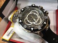 24271 Invicta Excursion 52mm Men's Quartz Chronograph Black Dial BLK Strap Watch