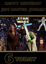 Star Wars Personalised Birthday Card Add Your Own Name & Age Starwars